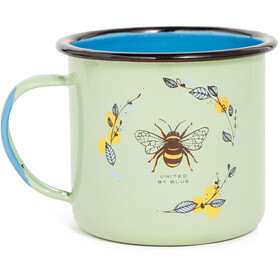 United By Blue Honey Bee Tazza smaltata borraccia, green
